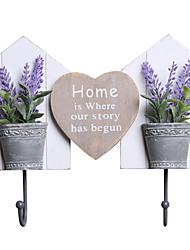 предметы домашнего обихода бесшовные крюк лаванды растения двойные pothooks