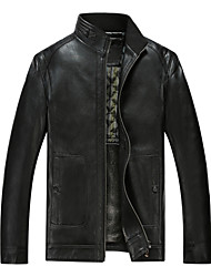 Qiu dong men sheep leather garment leather business Head skin leisure coat