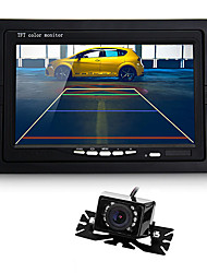 "7"" TFT LCD Car Monitor IR Rear View Reverse Backup 9 LED Night Vision Camera"