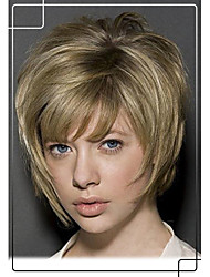 Prevailing Hand Tied -Top Virgin Remy Human Hair Capless Short Straight Wigs