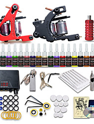 beginner tattoo starter kits 2 machines 20 inkt sets