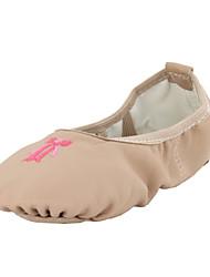Non Customizable Women's / Kids' Dance Shoes Belly / Ballet / Dance Sneakers Leatherette Flat Heel  beige
