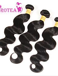 """3pcs cheveux vierge péruvienne vague de corps 8 """"-30"""" extension meilleure péruvien de vague de corps de cheveux péruvien armure humaine de"""