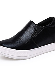 Women's Shoes Leatherette Spring / Summer / Fall / Winter Wedges / Platform Loafers Outdoor / Office & Career / Casual Wedge Heel Slip-on
