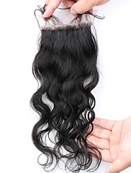Slove Hair 7A Bleached Knots Lace Closure Water Wave Closure Best Virgin Peruvian closures Free/2/3Part Closure