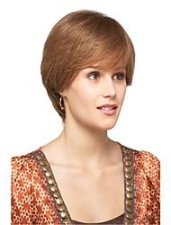 color de la mezcla sin tapa extra de alta calidad a corto naturales peluca sintética recta
