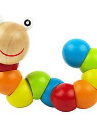 projetos novos de madeira brinquedos lagarta torção brinquedos da cor (1 pc)