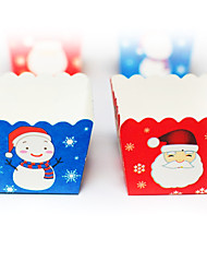Santa Claus and Snowman for Christmas Baking Cake Paper Cups Moulds(50 Pieces)
