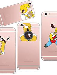 maycari®the beau Simpson TPU Retour cas pour iphone 6 plus / 6s plus (couleurs assorties)