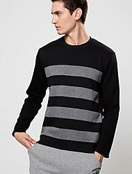 Pulls & Hoodies ( Coton / Polyester ) Informel Rond à Manches longues pour Homme