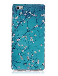 vagues de motifs de fleurs glissent poignée TPU téléphone logiciel pour Huawei p8 / p8 Lite