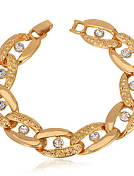 Vogue Vintage Chunky Bacelet Bangle 18K Gold Platinum Plated Jewelry for Women Men High Quality