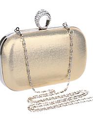 Damen PU / Polyester / Metall Formell / Veranstaltung / Fest / Hochzeit Abendtasche Gold / Silber / Schwarz