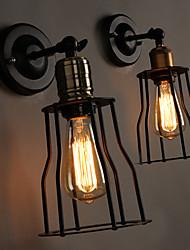 E27 220V 14.5*25CM 5-8㎡ Creative The Head Of A Bed Titanium Metal Wall Lamp Light LED