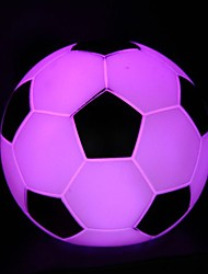 6.5CM Christmas 7 Colour Football Battery A Night Light  LED Lamp 1PC