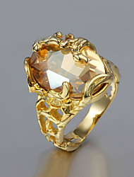 Ring Wedding / Party / Daily / Casual Jewelry Cubic Zirconia / Gold Plated Women Band Rings 1pc,6 / 7 / 8 / 9 Gold