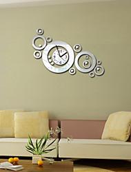 Acrylic DIY 3D Mirror Home Decor Circular Ring Wall Clock Mirror Surface StickerS