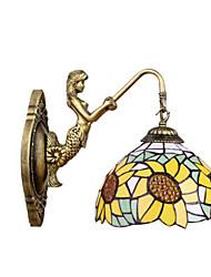 Lampade a candela da parete LED Tiffany Acciaio inossidabile