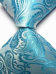 Men Wedding Cocktail Necktie At Work Black Light Flower Tie