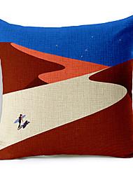 Lonely Desert Cotton/Linen Decorative Pillow Cover