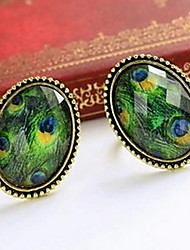 Peacock Oval Resizable Gemstone Statement Ring Turkish Jewelry