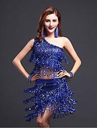 Accesorios(Azul / Fucsia / Rojo,Lentejuela,Danza Latina) -Danza Latina- paraMujer Borla(s) RepresentaciónPrimavera, Otoño, Invierno,