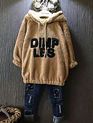 Girl's Stylish Long Sleeve Letter Print Loose-Fitting Hoodie