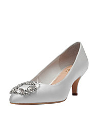 Women's Wedding Shoes Pointed Toe/Closed Toe Heels Wedding/Party & Evening/Dress Red/Champagne