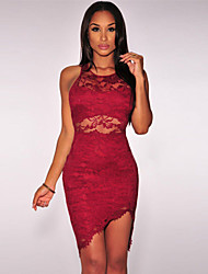 Women's Lace Sheer Waist Dress