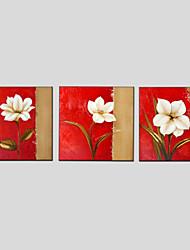 Ölgemälde Blume Stil, Canvas-Material mit gestreckten Rahmen bereit, hängen Größe: 70 * 70 * 3pcs.