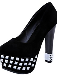 Women's Shoes Stiletto Heel Heels / Platform / Round Toe Heels Party & Evening / Dress / Casual Black