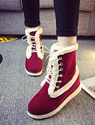 Women's Shoes New Arrival Antiskid Classic Warm Flat Heel Comfort Boots Dress / Casual Black / Burgundy