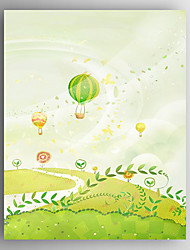 Stretched Canvas  Art Children Art Landscape Print  One Panel
