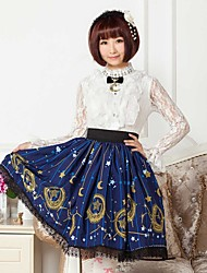 Blue  Constellation And Moon Lolita  Skirt Lovely Cosplay
