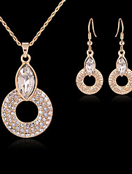 May Polly A hollow circular diamond suit selling Europe and the United necklace earring States
