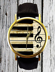 Piano Keys G Clef Watch Leather Watch Women's Strap Watch Men's Watch Gift for Her Gift Idea Custom Watch Musician Cool Watches Unique Watches