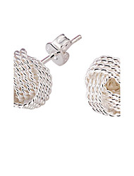 Women's  Spherical silver platedearrings