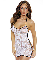 Women's Sheer Lace Open Back Strappy Chemise