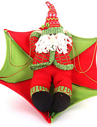 "80*50CM/31.5*19.7"" Vintage Santa Claus In Parachute Christmas Tree Hanging Ornament Xmas Decoration"