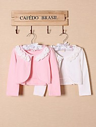 Wedding / Party/Evening / Casual Cotton Shrugs Long Sleeve Wedding  Wraps / Kids Wraps