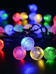 King Ro solar 16.54ft 20LED Christmas Ball Light Outdoor Waterproof String Light