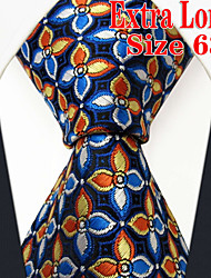 Men's Tie  BlueFloral  100% Silk Business New