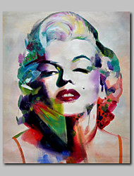 Ready to Hang Stretched Hand-Painted Oil Painting Canvas Home Deco Pop Art Marilyn Monroe Nude Lady One Panel
