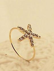 Korea Starfish Diamond Fashion Rings