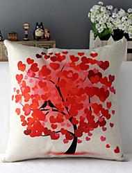"43cm*43cm 17""*17"" Seasons Trees Cotton / Linen Cotton&linen Pillow Cover / Throw Pillow With No Insert"