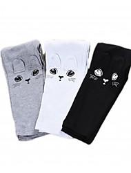 Girl's Pants Middle Waist Cat Design Fleece Lining Pants for Spring Autumn (Cotton)