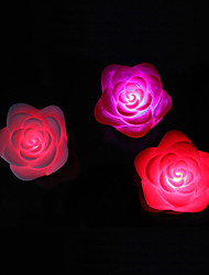 6*6*4.5CM Christmas Colorful Led Small Night Light Rose LED Lamp 1PC