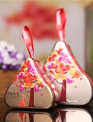 1 Piece/Set Favor Holder-Heart-shaped Metal Gift Boxes Non-personalised