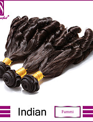 3Pcs/Lot Indian Hair Bundles Unprocessed Fummi Hair Weaves Indian Virgin Hair weaves