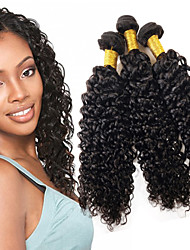 EVET Brazilian Virgin Hair 6A Unprocessed Curly Virgin Hair Loose Curly Virgin Human Hair Weave 1 Bundle Natural Color